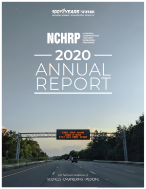 Image of NCHRP 2020 Annual Report cover
