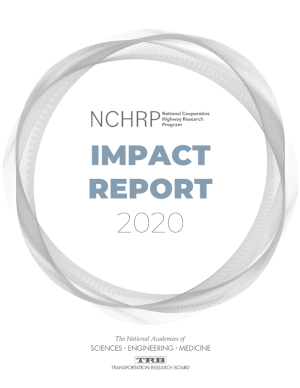 Image of NCHRP 2020 Impact Report Cover